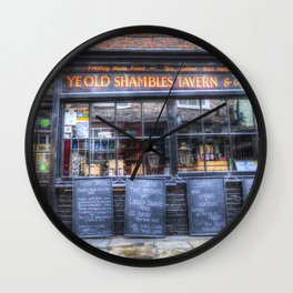 Ye Old Shambles Tavern York Wall Clock