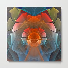 Colourful unfolding fantasy abstract Metal Print