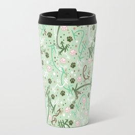 Mint Chip Paw Prints Travel Mug