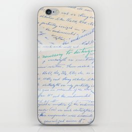 Science Art - 1970s Microbiology Notes  iPhone Skin