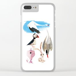 Arctic animals 2 Clear iPhone Case