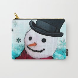Snowman Christmas Art - Frosty - Holiday Artwork by Sharon Cummings Carry-All Pouch