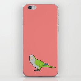 Pixel / 8-bit Parrot: Green Quaker Parrot iPhone Skin