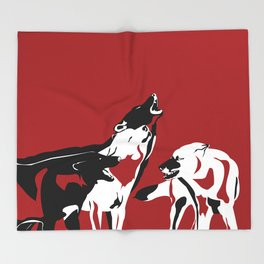 A Wolf's Bloodlust Throw Blanket