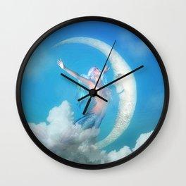 Mermaid & the Moon Wall Clock