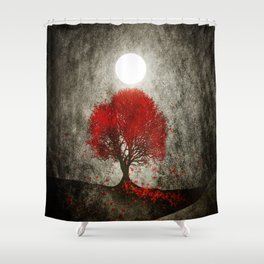 Red autumn. Shower Curtain