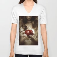 fairy tale V-neck T-shirts featuring Fairy Tale by Judy Hung