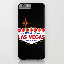 Welcome to Fabulous Las Vegas Nevada Vintage Sign on dark background iPhone Case