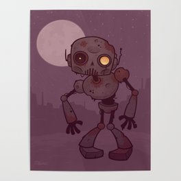 Rusty Zombie Robot Poster