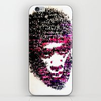 tyler the creator iPhone & iPod Skins featuring OBSCENE (Tyler the Creator) by Monica Diaz