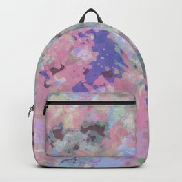 Pink Blush Abstract Backpack