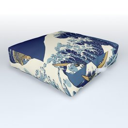 Rogue Wave at Kanagawa Outdoor Floor Cushion