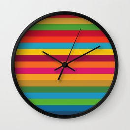 Color Stripes - horizontal Wall Clock