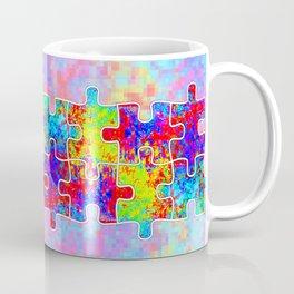 Autism Colorful Puzzle Pieces Coffee Mug