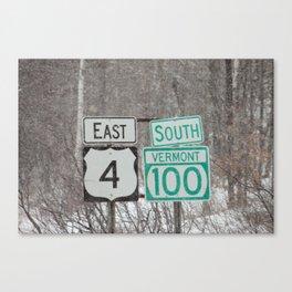 Vermont Street Signs Canvas Print