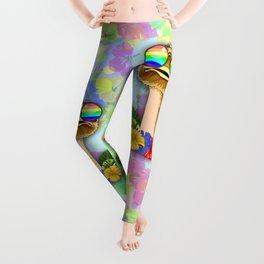 Ostrich Hawaii Fashion Funny Dudes Leggings