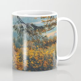 Earthscape Landscape Photography Tall Autumn Fall Trees Overlooking Fields Coffee Mug