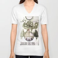 alchemy V-neck T-shirts featuring Alchemy by anipani