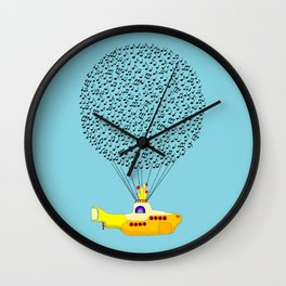 Musical Yellow Submarine Wall Clock
