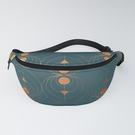 Copper Art Deco on Emerald Fanny Pack