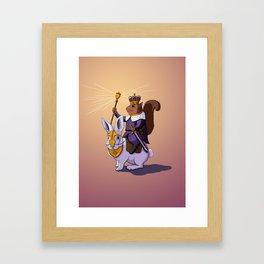 Squirrel King Framed Art Print
