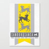 sansa Canvas Prints featuring SanSan Custom Sigil by P3RF3KT
