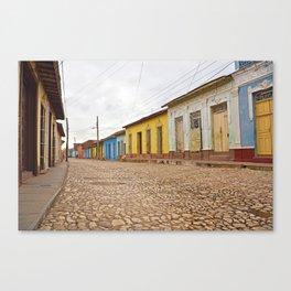 Streets of Trinidad Cuba Cobblestone Stucco Old City Colorful Latin America Caribbean Island Tropica Canvas Print