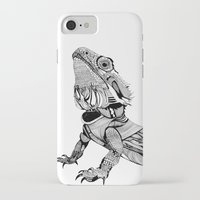 dragon iPhone & iPod Cases featuring Dragon by eva vasari