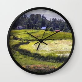 August Pond Wall Clock