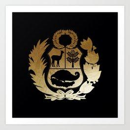 Peru Golden Shield Art Print