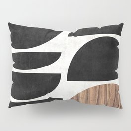 Mid-Century Modern Pattern No.7 - Concrete and Wood Pillow Sham