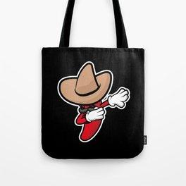 Funny Dabbing Chili Pepper Tote Bag