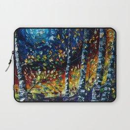 Moonlight Sonata With Aspen and Birch Trees Laptop Sleeve
