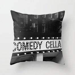 New York Comedy Cellar Throw Pillow