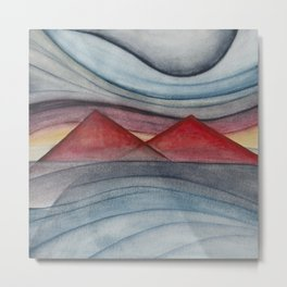 Geometric landscapes 06 Metal Print
