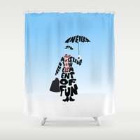 mary poppins Shower Curtains featuring Mary Poppins by pokegirl93