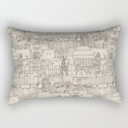 Edinburgh toile natural Rectangular Pillow