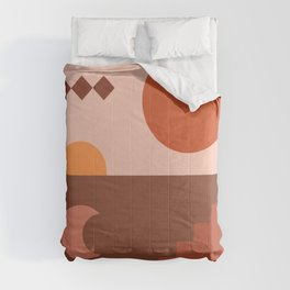 Abstraction_SUN_MOON_ARCHITECTURE_Minimalism_001 Comforters