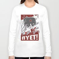 soviet Long Sleeve T-shirts featuring grumpy soviet by tshirtsz