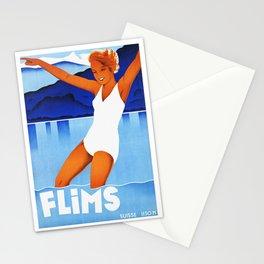 Vintage Flims Switzerland Travel Stationery Cards