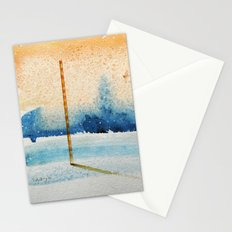 waxing crescent.two Stationery Cards