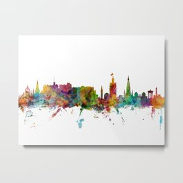 Edinburgh Scotland Skyline Cityscape Metal Print