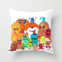 muppet Throw Pillows featuring Muppet Doodle Jam! by Orangeblowfish