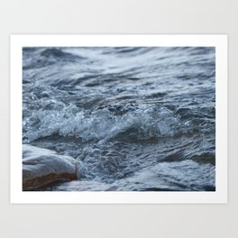 Stormy shore Art Print