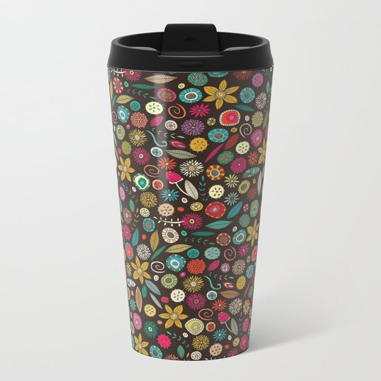 daffodil pop Metal Travel Mug