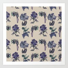 Botanical Florals | Vintage Blueberry Art Print