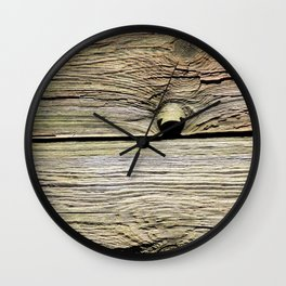 Natural Wood Panels Wall Clock