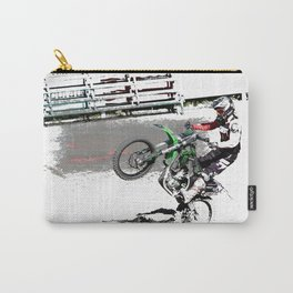 Making a Stand - Freestyle Motocross Rider Carry-All Pouch