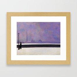Felix Vallotton -  La Néva, Brume Légère (new color editing) Framed Art Print