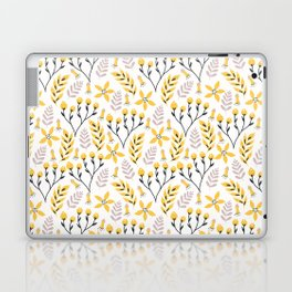 Mod Floral Yellow Gray Laptop & iPad Skin